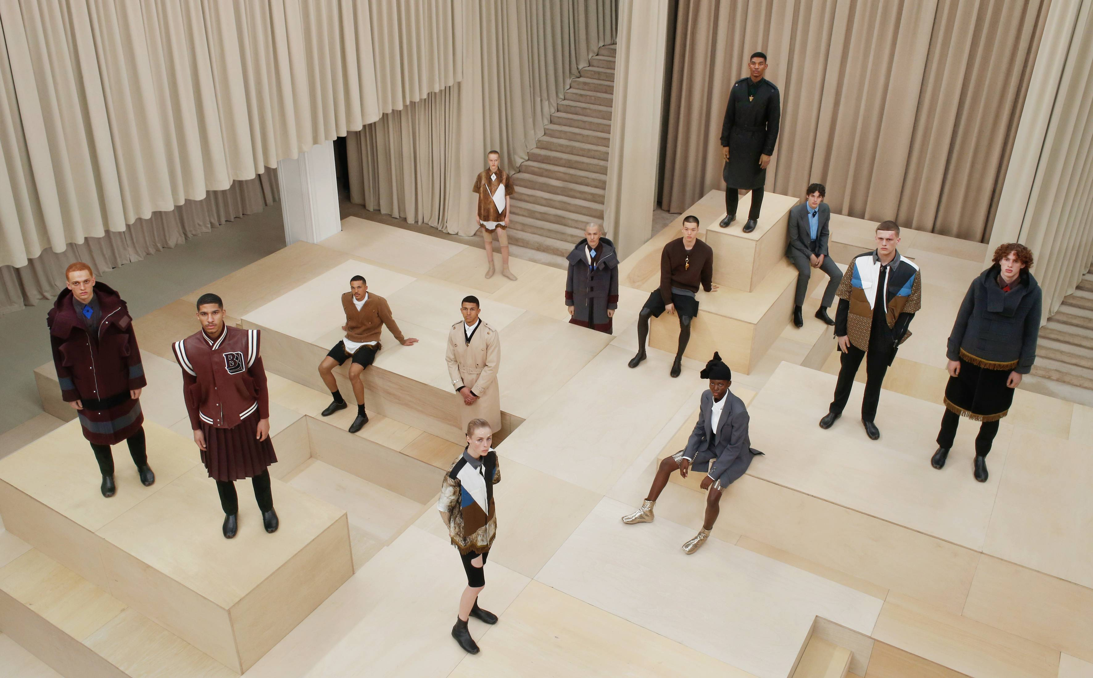 Burberry presents menswear-focused collection during LFW