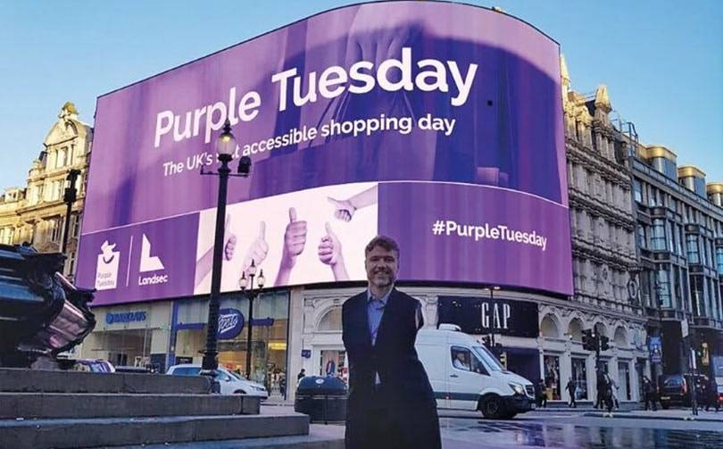 UK retailers 'go purple' in support of disabled customers