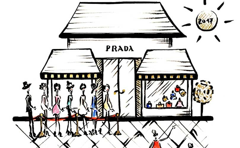 Illustrations -  How a sense of fineness can lead Prada to a bright future