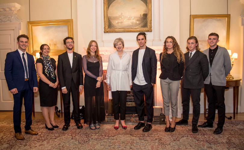 Prime Minister Theresa May hosts LFW welcome reception