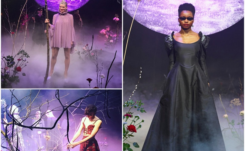 Fashion style Alistair James cements its aesthetic with Sisters of The Moon at LFW AW18 for woman